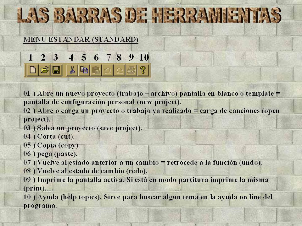 LAS BARRAS DE HERRAMIENTAS