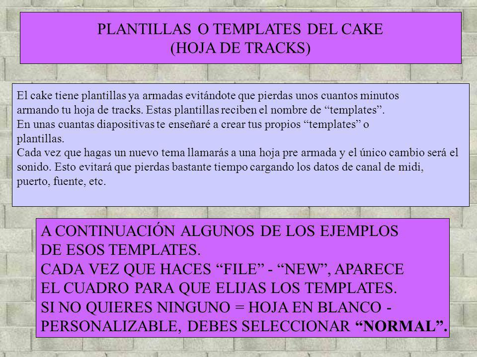 PLANTILLAS O TEMPLATES DEL CAKE