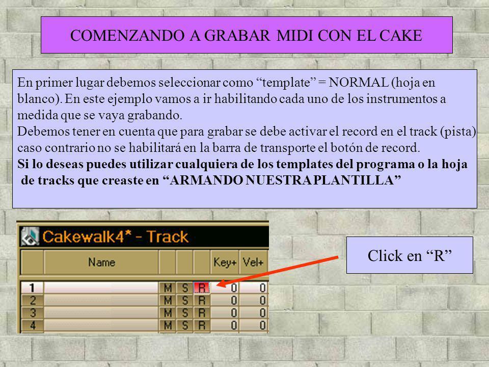 COMENZANDO A GRABAR MIDI CON EL CAKE