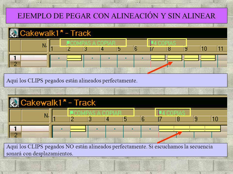 EJEMPLO DE PEGAR CON ALINEACIÓN Y SIN ALINEAR