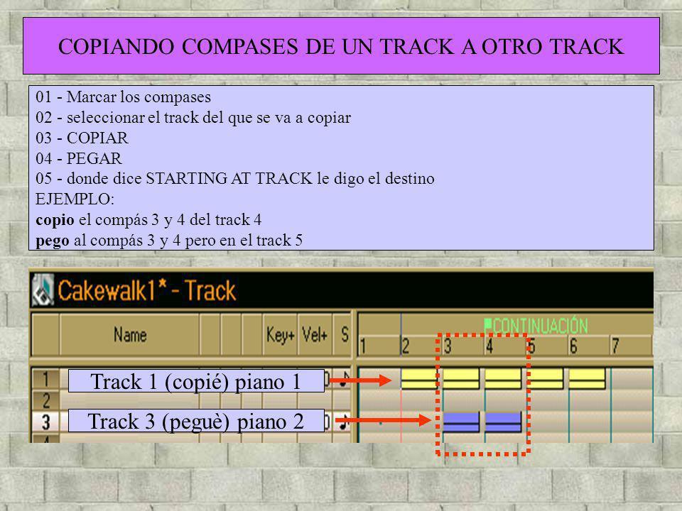 COPIANDO COMPASES DE UN TRACK A OTRO TRACK