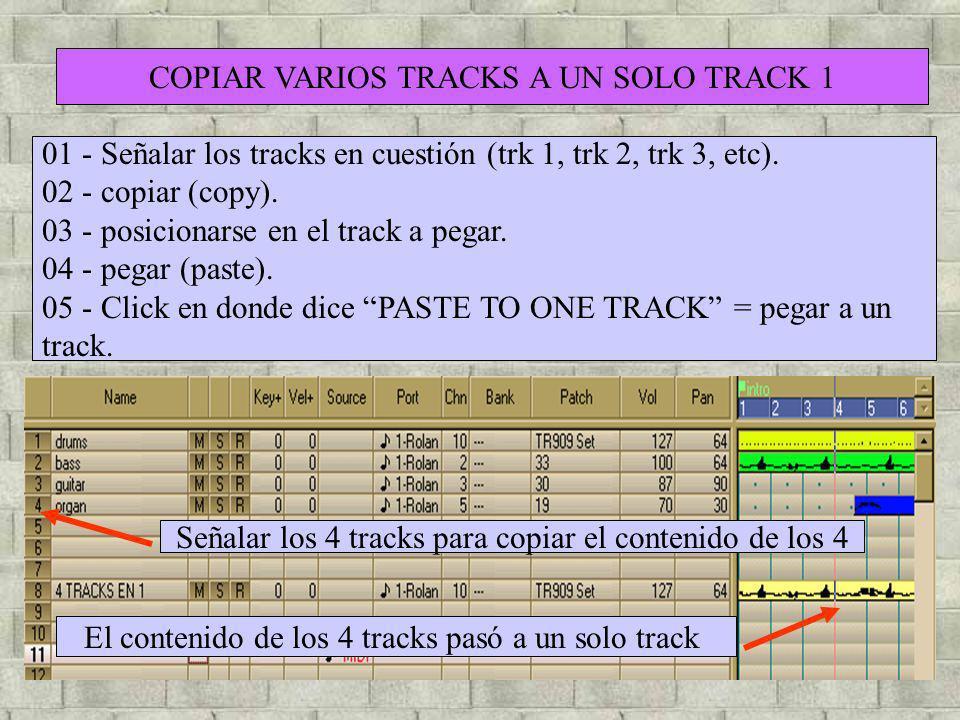 COPIAR VARIOS TRACKS A UN SOLO TRACK 1