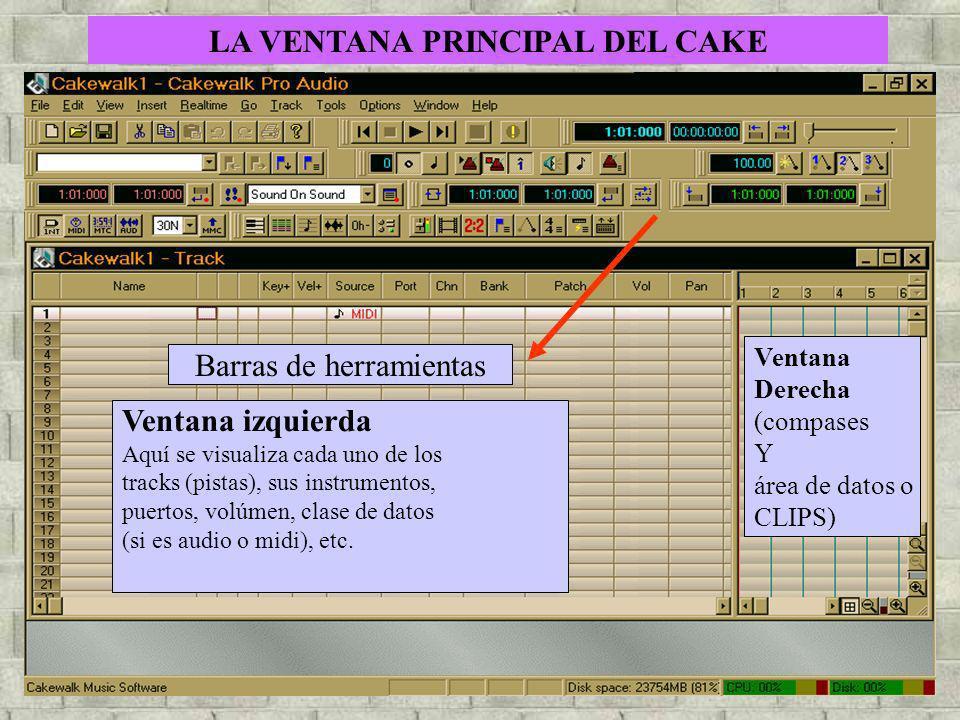LA VENTANA PRINCIPAL DEL CAKE