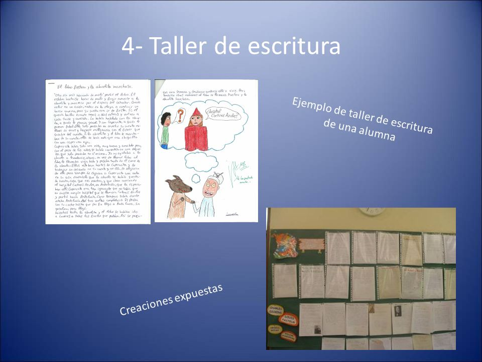 Ejemplo de taller de escritura de una alumna