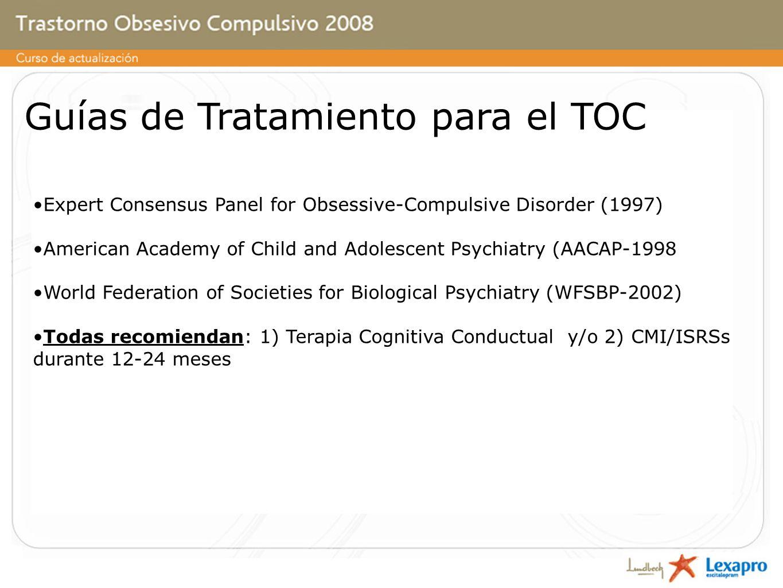 Guías de Tratamiento para el TOC