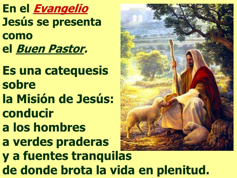 sobre la Misión de Jesús: conducir a los hombres a verdes praderas