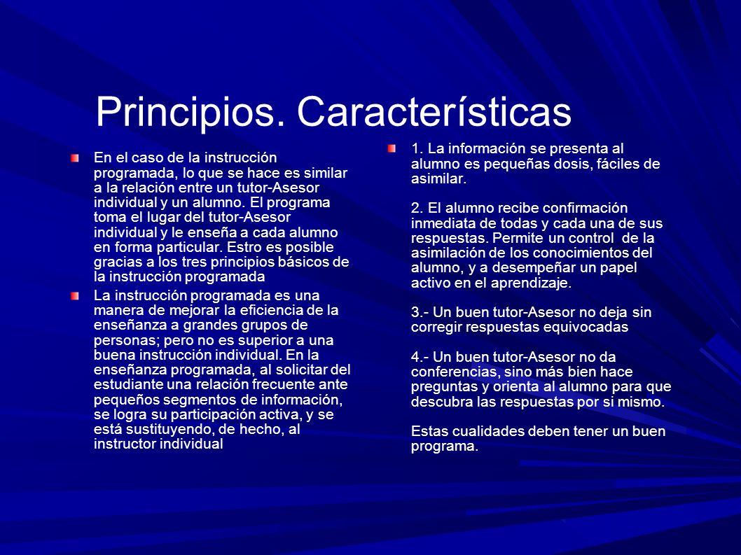 Principios. Características