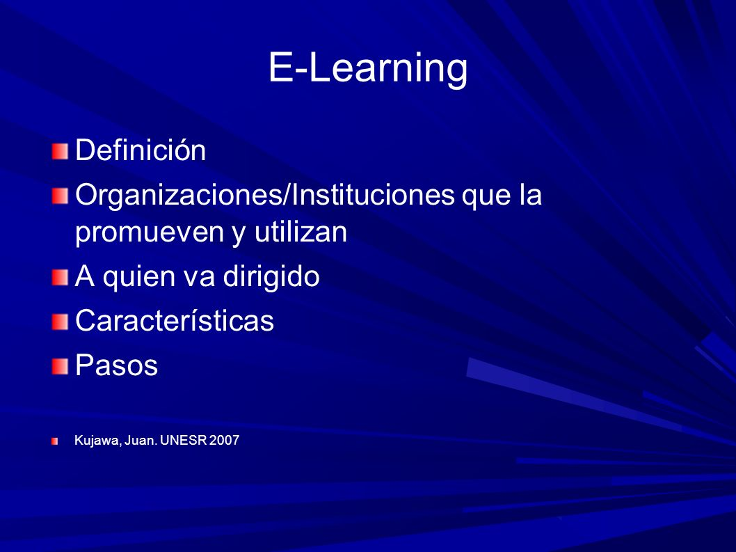 E-Learning Definición