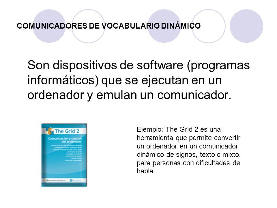 COMUNICADORES DE VOCABULARIO DINÁMICO