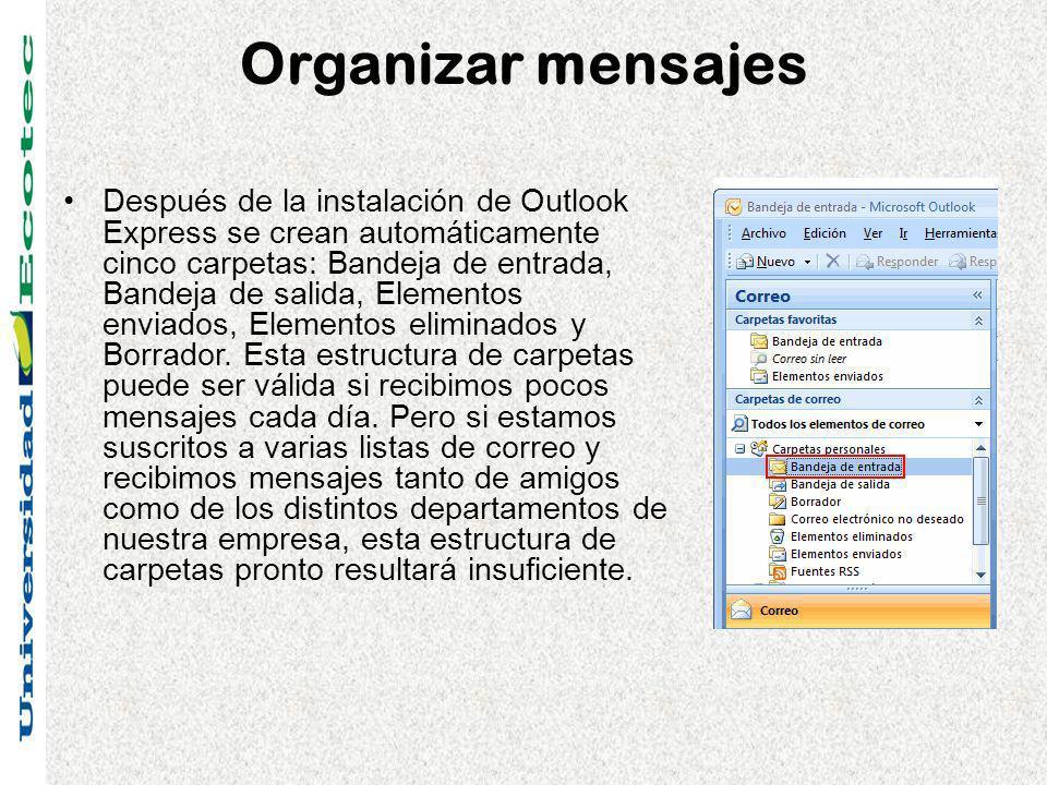 Organizar mensajes