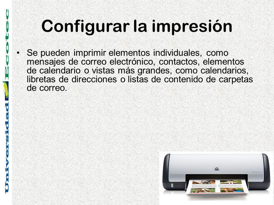 Configurar la impresión