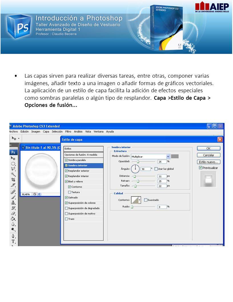 Las capas sirven para realizar diversas tareas, entre otras, componer varias imágenes, añadir texto a una imagen o añadir formas de gráficos vectoriales.