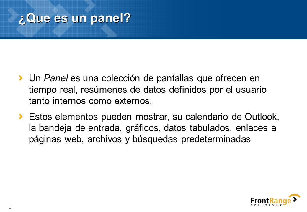 Personalizar goldmine enterprise configuraci n de paneles - Www wayook es panel ...