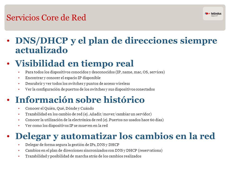 DNS/DHCP y el plan de direcciones siempre actualizado