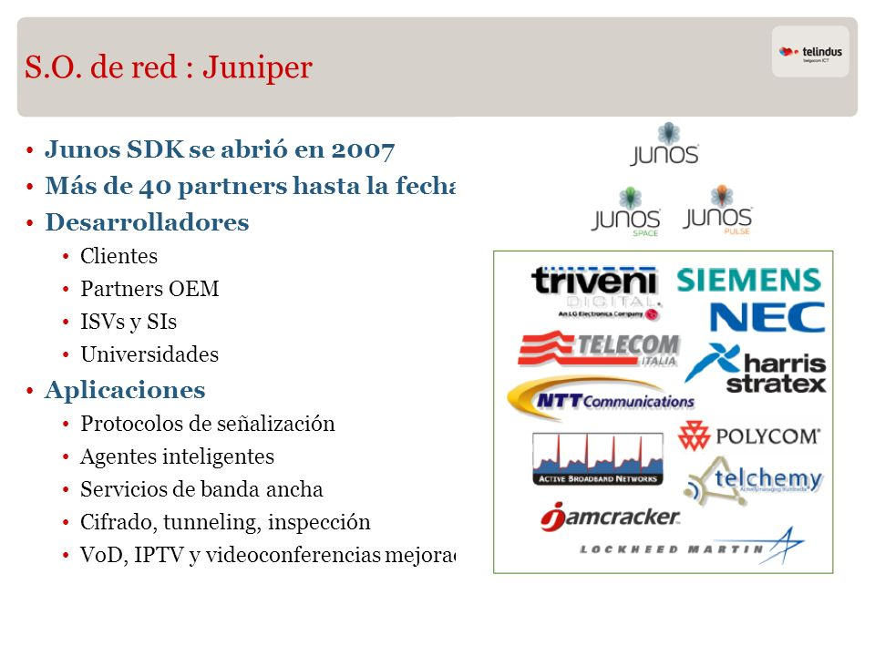 S.O. de red : Juniper Junos SDK se abrió en 2007