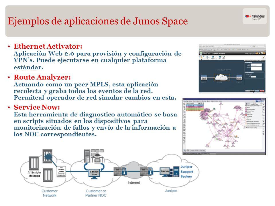 Ejemplos de aplicaciones de Junos Space