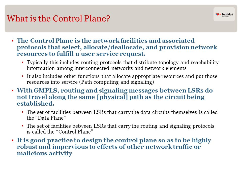 What is the Control Plane