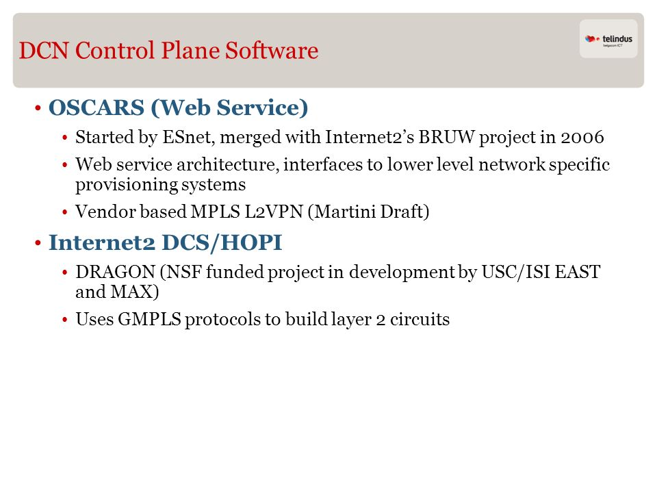 DCN Control Plane Software