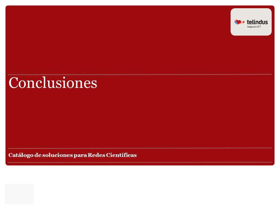Catálogo de soluciones para Redes Científicas