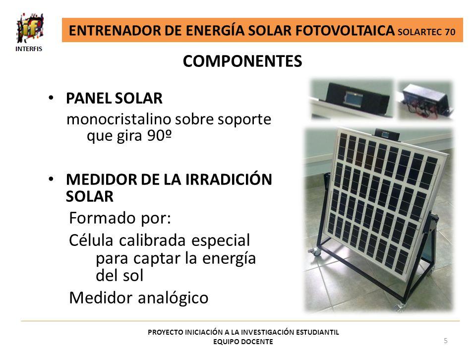 Célula calibrada especial para captar la energía del sol
