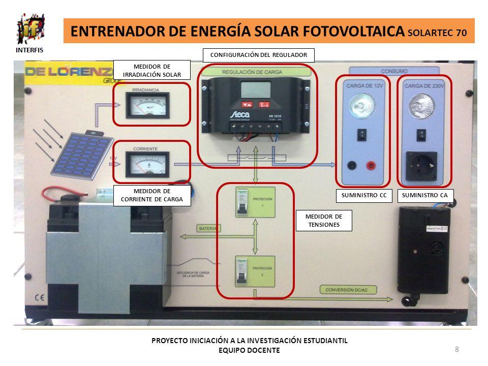 ENTRENADOR DE ENERGÍA SOLAR FOTOVOLTAICA SOLARTEC 70