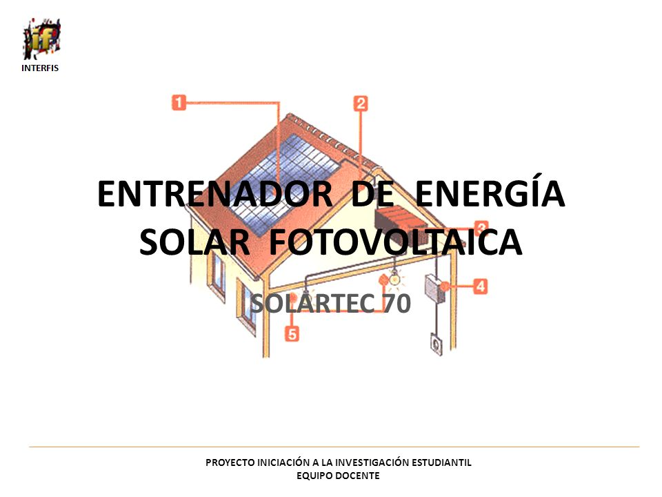 ENTRENADOR DE ENERGÍA SOLAR FOTOVOLTAICA