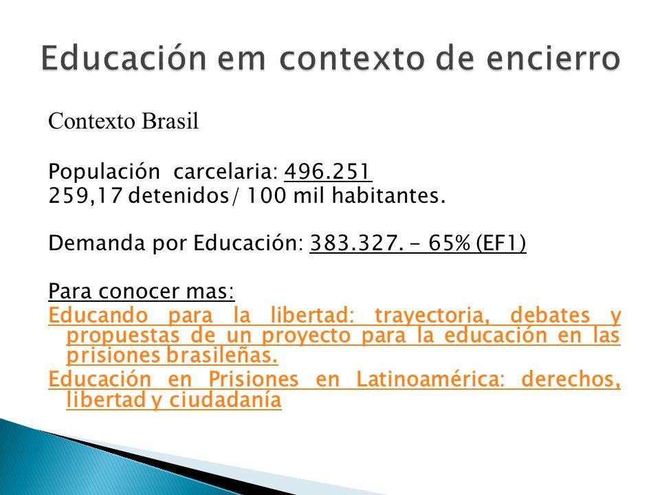 Educación em contexto de encierro