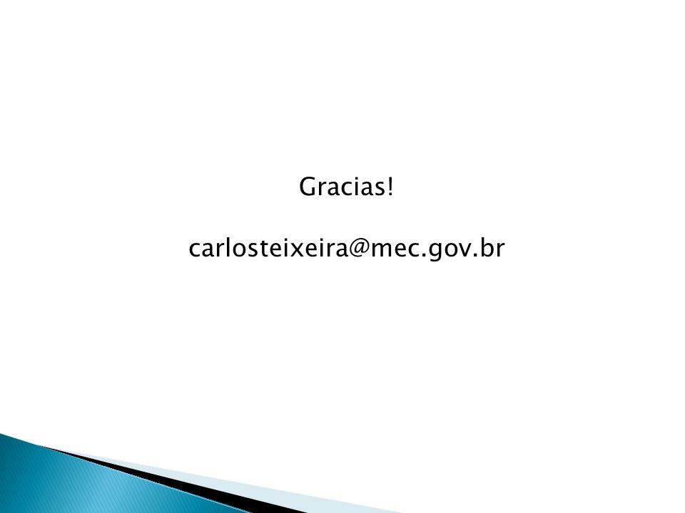 Gracias! carlosteixeira@mec.gov.br