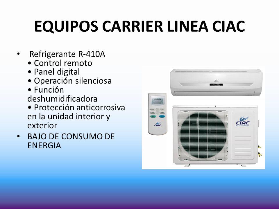 EQUIPOS CARRIER LINEA CIAC