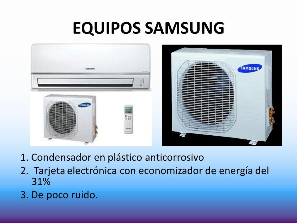 EQUIPOS SAMSUNG 1. Condensador en plástico anticorrosivo 2.