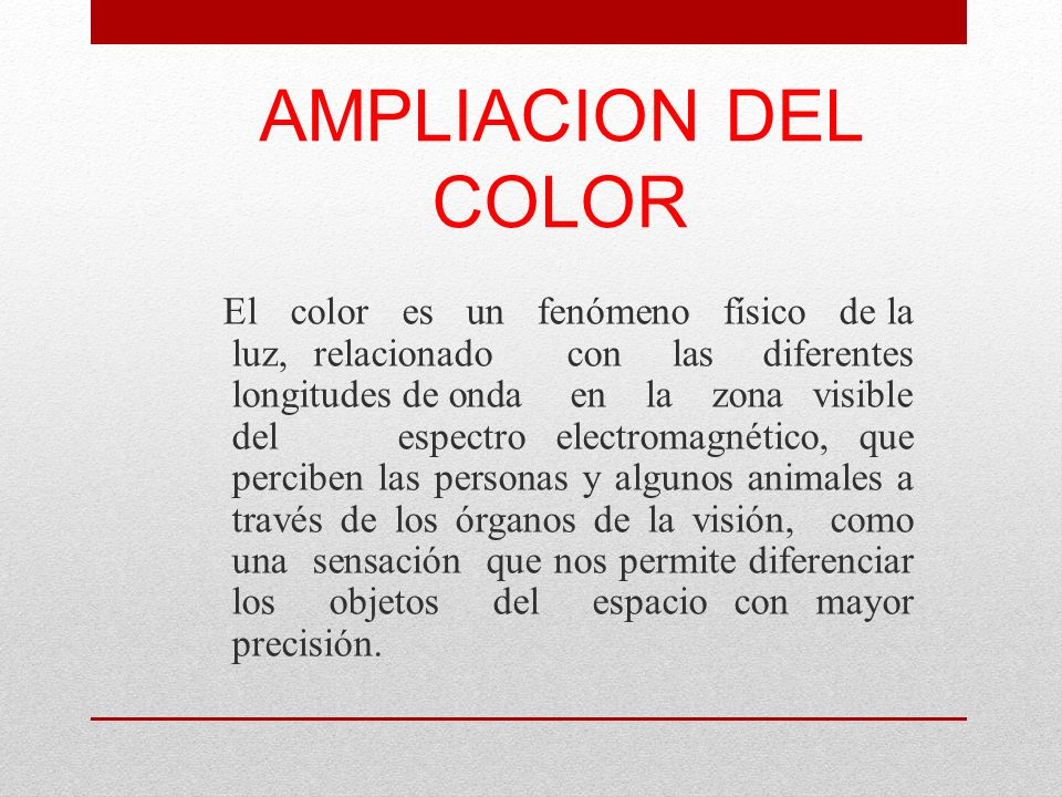 AMPLIACION DEL COLOR