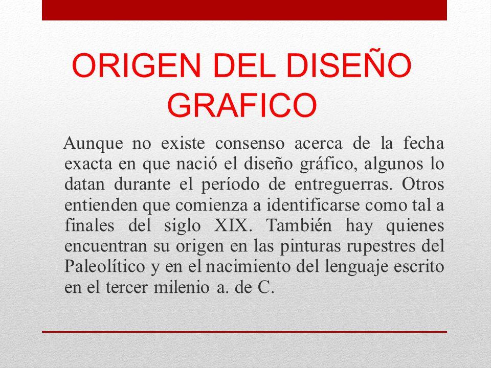 ORIGEN DEL DISEÑO GRAFICO