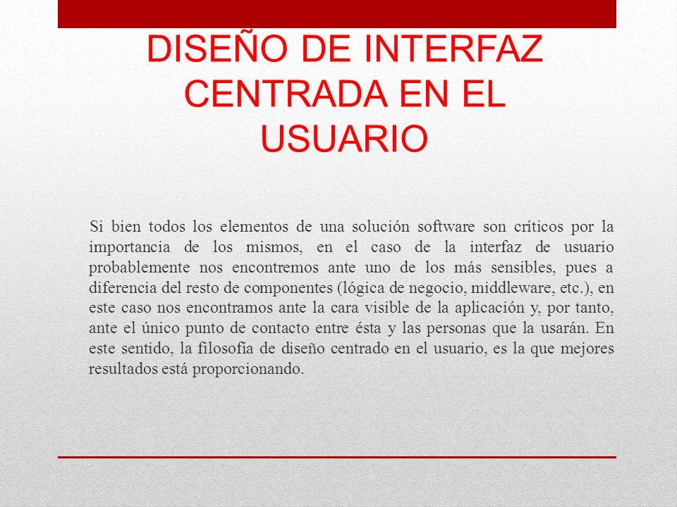 DISEÑO DE INTERFAZ CENTRADA EN EL USUARIO