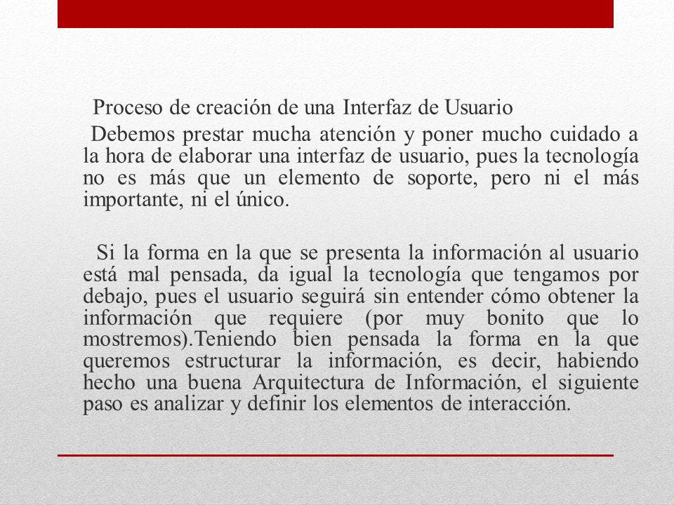 Proceso de creación de una Interfaz de Usuario