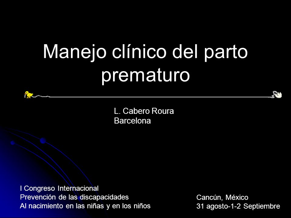 Manejo clínico del parto prematuro