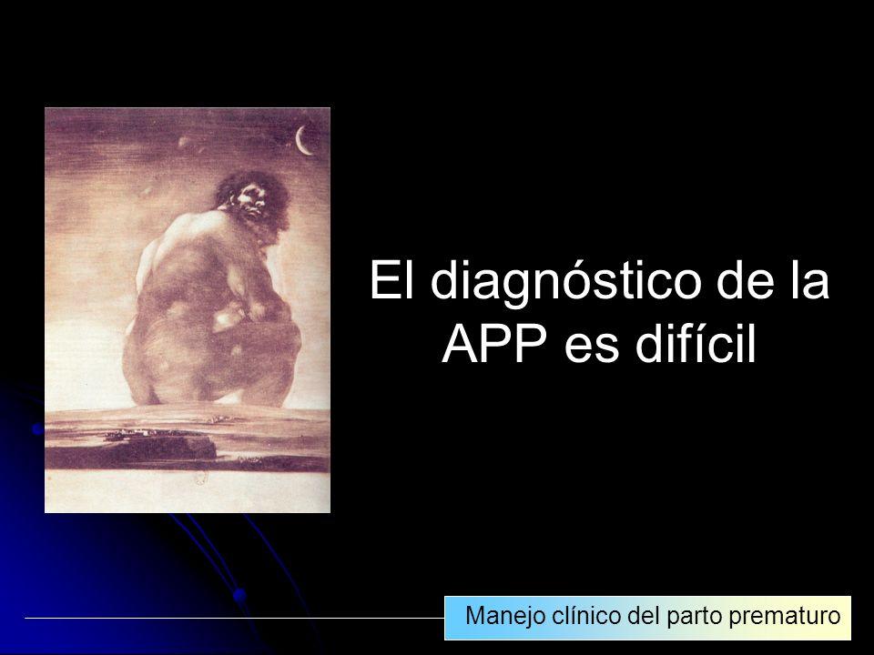 El diagnóstico de la APP es difícil