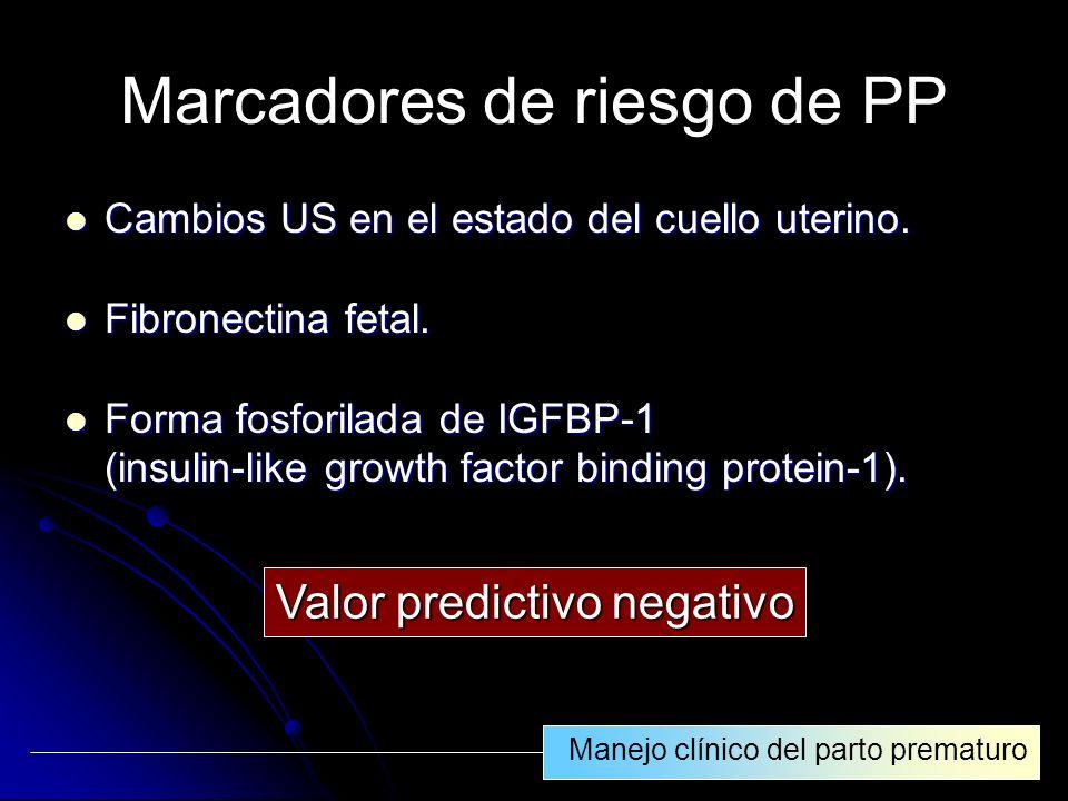 Marcadores de riesgo de PP