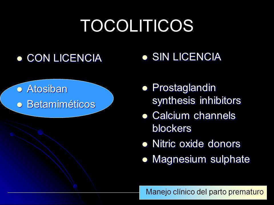 TOCOLITICOS SIN LICENCIA CON LICENCIA