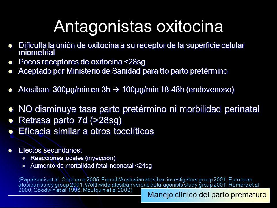 Antagonistas oxitocina