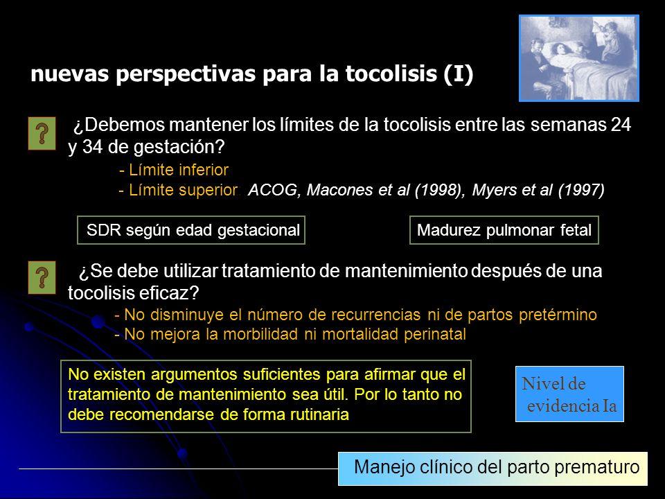 nuevas perspectivas para la tocolisis (I)