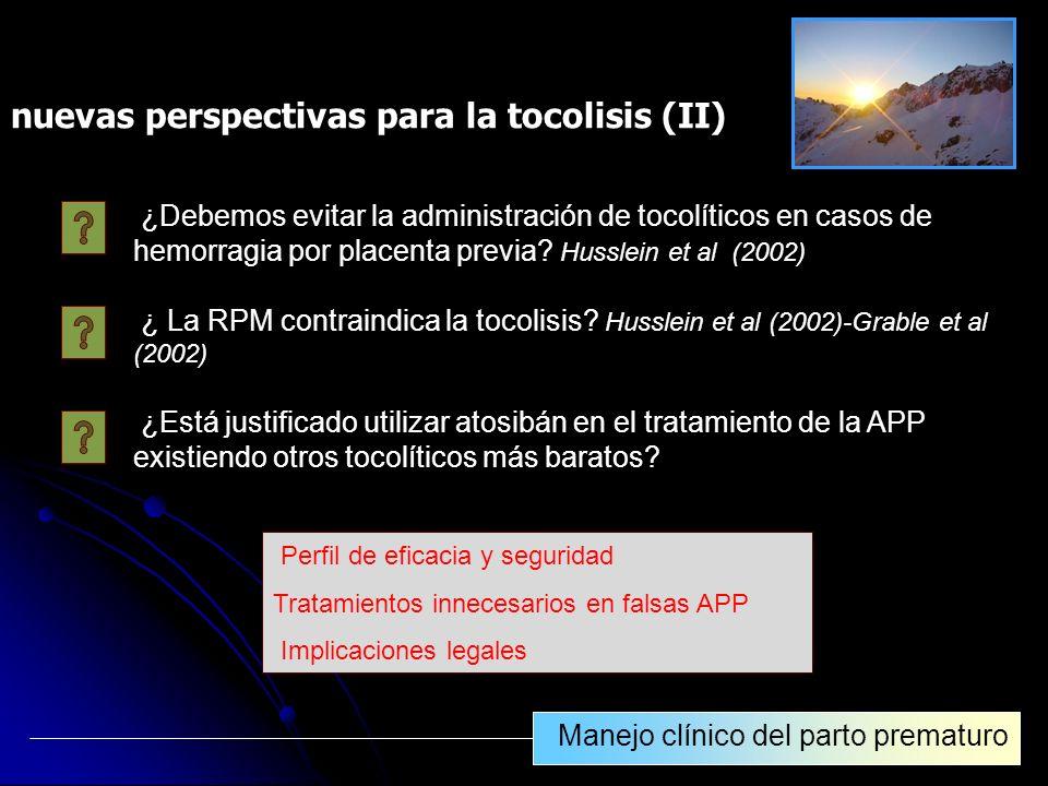 nuevas perspectivas para la tocolisis (II)
