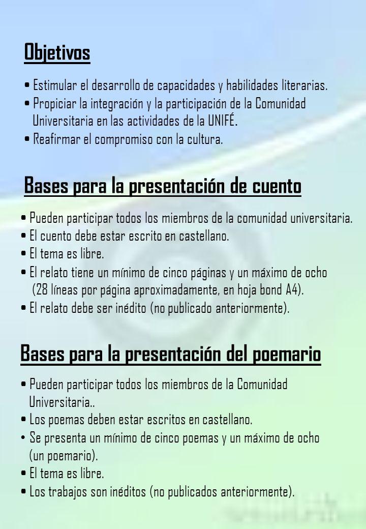 Bases para la presentación de cuento