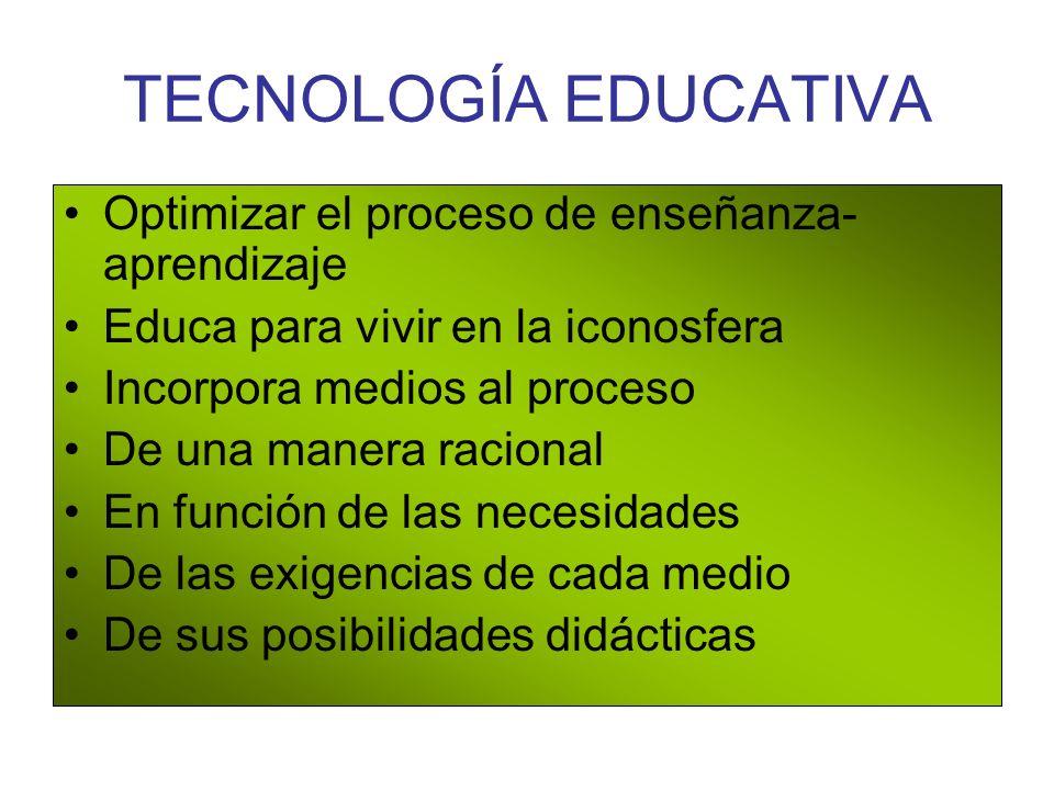 TECNOLOGÍA EDUCATIVA Optimizar el proceso de enseñanza-aprendizaje