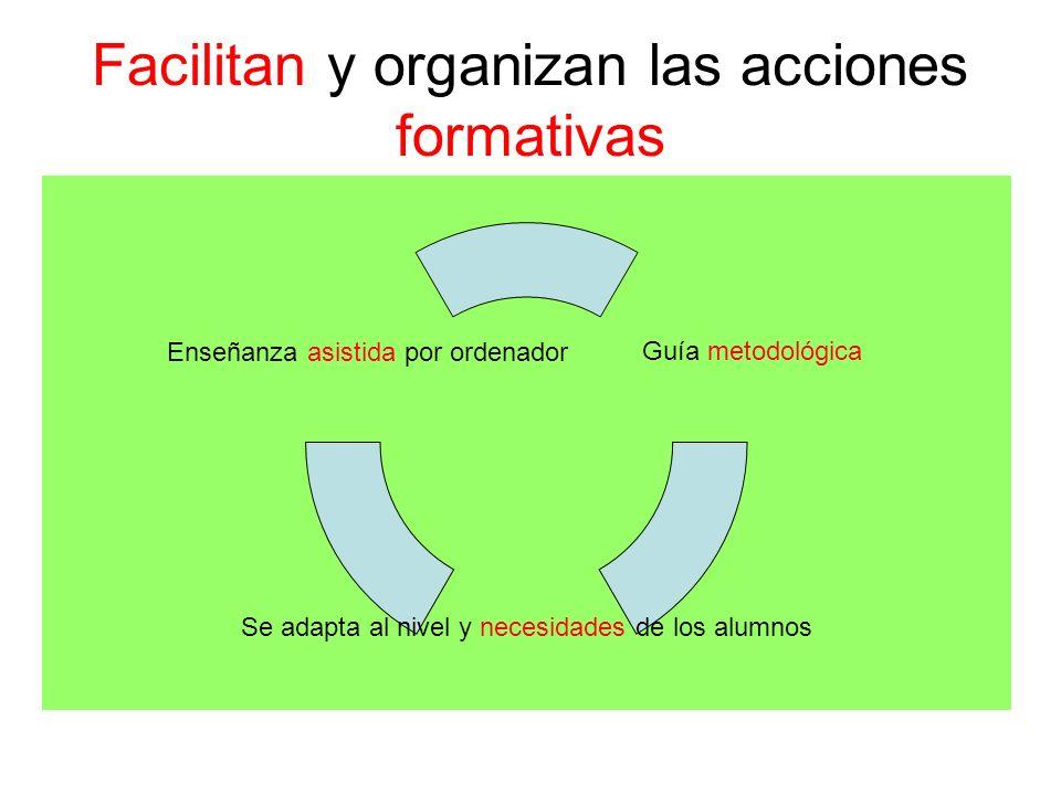 Facilitan y organizan las acciones formativas