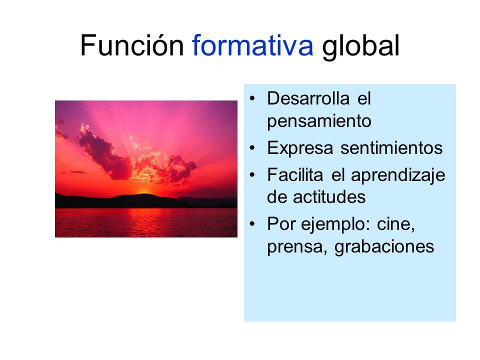 Función formativa global