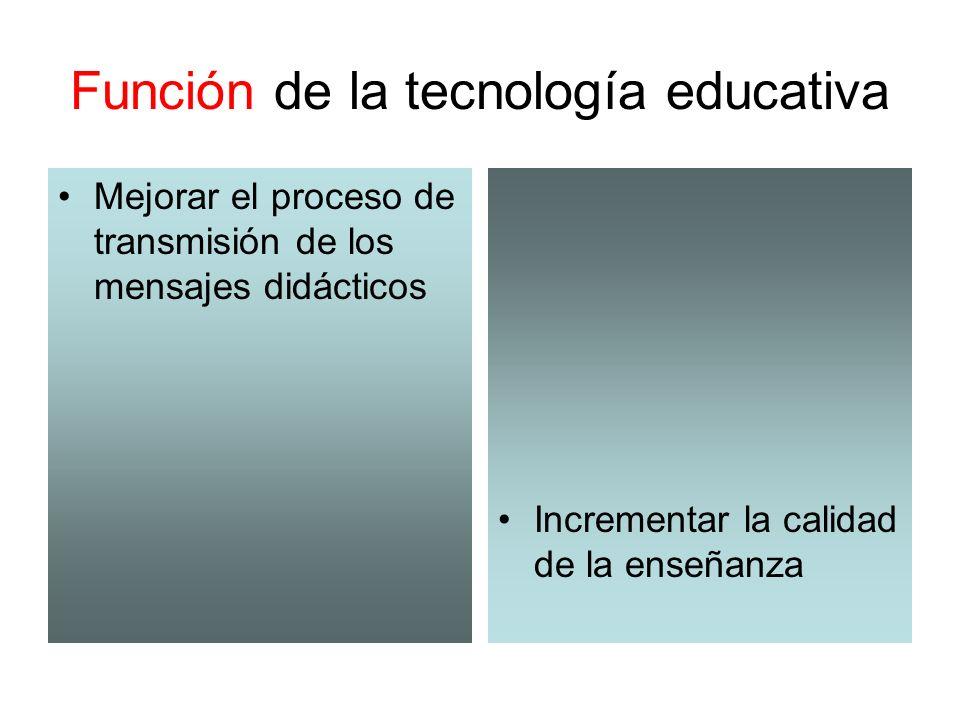 Función de la tecnología educativa
