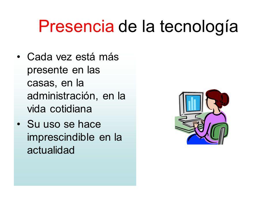 Presencia de la tecnología