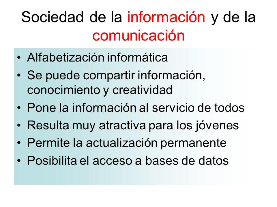 Sociedad de la información y de la comunicación