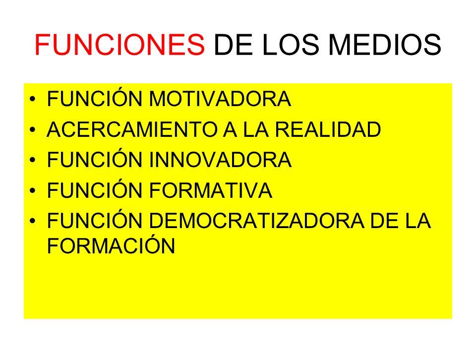 FUNCIONES DE LOS MEDIOS