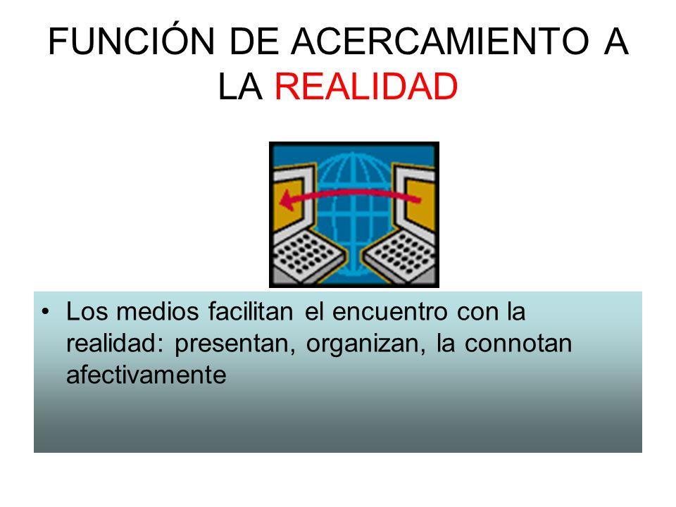 FUNCIÓN DE ACERCAMIENTO A LA REALIDAD
